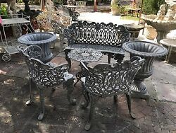 White House Patio Furniture Benches and Table 12 Piece Set