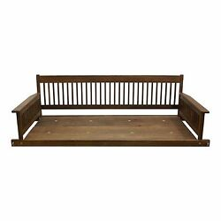 Outdoor 2-Person Porch Patio Daybed Danish Hanging Wooden Swing Seat Furniture