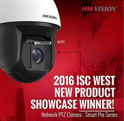 Hikvision 4K 8MP Ultra HD 36X Outdoor Smart IR PTZ Speed Dome Camera with Wiper