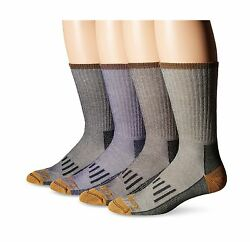 TIMBERLAND (Pack of 4) Merino Wool-Blend Hiker Crew Socks FOR MEN - CUSHIONED