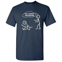 Together Man Sarcastic Graphic Humor Cool gift Idea Funny Novelty T Shirts $13.59