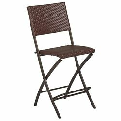 COSCO Outdoor Delray High Top Patio Dining Chair in Brown (Set of 2)