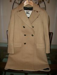used BURBERRY LONDON slim brown wool overcoat size EU 48 US 38R Italy $2795