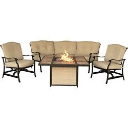 Fire Pit Patio Set Outdoor Furniture Sofa Chairs Garden Yard Deck Fireplace