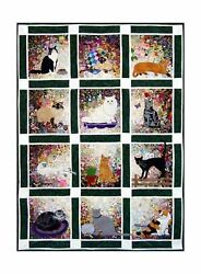 Whims Watercolor Quilt Kits Rachel's Cat Garden Quilting Supplies NO TAX