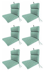 Premium Honey Hive Patio Cushion Set of 6 Outdoor Replacement Pads Chair Dining