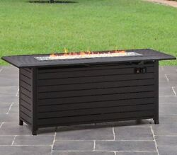 Fire Pit Table Gas Patio Fireplace Propane LP Outdoor Deck 57