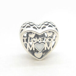 NEW! Authentic Silver Mother's Day Gift Love for Mother Heart Charms