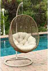 Wicker Hanging Egg Chair Hammock Swing Patio Pool Deck Bed Sea Outdoor Furniture
