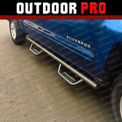 FOR 07-18 Chevy SILVERADO CREW Cab Black Nerf Bars Side Steps Running Boards