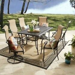 7 Piece Outdoor Dining Set Bistro Patio Furniture Chairs Table Garden Yard 1d