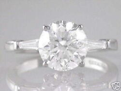 Diamond Solitaire Round Ring Certificated 2.80ct Brilliant Cut 18ct White Gold