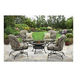 Patio Furniture Sets Clearance With Fire Pit On Sale Wrought Iron Table Chat Set