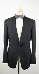 New. TOM FORD Black Wool Shawl Collar 1 Button Tuxedo Suit 4838 R Base T $5460