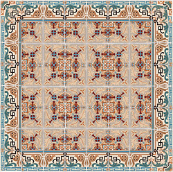 Antique 15 sq ft Encaustic floor tiles hall fireplace patio timeless elegance