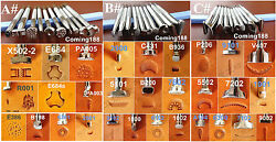 30pc Stainless Steel Leather Craft Stamping Stamp Punch Carving Tool Set-ABC NEW