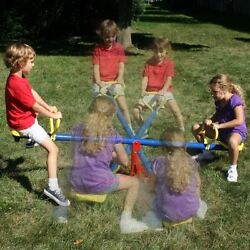 Outdoor Kids Playground Backyard Spinning See Saw Rotating Teeter Totter Age 5 8 $112.99