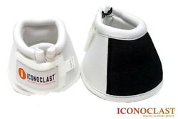 Iconoclast Equine Bell Over Reach Boots Large White Brand New Free Shipping $26.25
