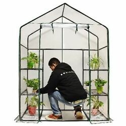 Mini Walk-In Greenhouse w 3 Tiers 6 Shelves Cover Protect Plant flora form Sunny