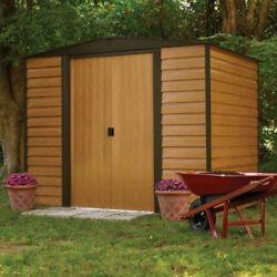 Shed  6 x 5 ft. Steel Storage Shed Double Door Tall Design Easy To Assemble