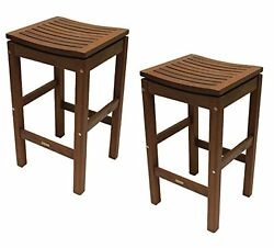 Patio Pub Height Super Stool 2 pack Bar Stools Furniture Home Garden