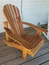 Hand crafted Cedar Adirondack Chair or set Natural finish