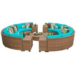 TKC Laguna 11 Piece Outdoor Wicker Sofa Set in Aruba