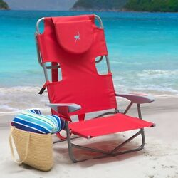 Foldable Beach Chairs Outdoor Patio Yard Pool Folding Chair With Bagpack Straps