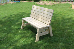 4 Ft Outdoor Wooden Garden Bench Chair Wood Frame Yard Deck Furniture Solid