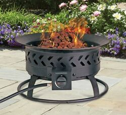 Endless Summer Portable Lp Firepit Steel Propane Outdoor Fireplace Steel Round