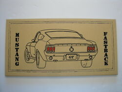 Mustang Fastback carved signhousecabinman caveshe shedshopdenwall art