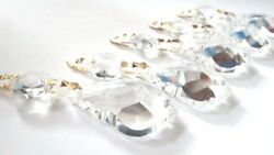 10 Clear Asfour 38mm French Cut Chandelier Crystals Prisms Lamp Parts $26.00