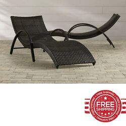 Chaise Lounge Chair Set Pool Outdoor Resin All Weather Sunlounger Metal Recliner