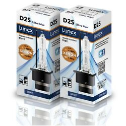 2 x LUNEX D2S Genuine XENON CAR LAMPS REPLACEMENT FOR PHILIPS GE OSRAM 6000K