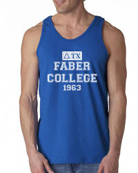 590 Faber College Tank Top funny pop culture costume frat party college new