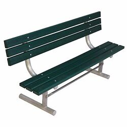 Commercial Park Furnishing 6-Feet Portable Green Recycled Plastic Planking Bench