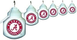 Polymer Products String Light 6 Socket Bulb Outdoor University of Alabama  Set
