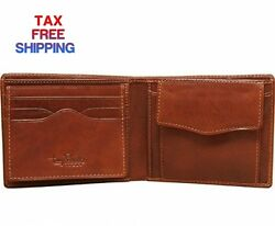 Tony Perotti Mens Italian Bull Leather Bifold Wallet with Removable ID Card...
