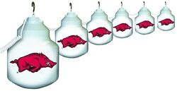 Polymer Products String Light 6 Bulb Outdoor University of Arkansas Lantern Set