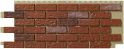 Mobile HomeRV Novik Old Red Blend Simulated Brick Skirting Panel (9 Pieces)