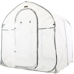 Portable Pop-Up Greenhouse Clear Collapsible Frame Waterproof Rip-Stop Fabric