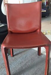 CASSINA CAB CHAIR-USED-MARIO BELLINI-LEATHER AUTHENTIC-designer chair-ONLY ONE