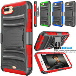 For iPhone 78 Plus + Belt Clip Holster Shockproof Hybrid Stand Hard Phone Case