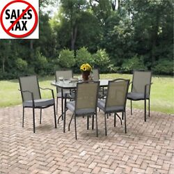 Patio Furniture Dining Set Outdoor Garden Table Chairs Lawn Deck 7 Piece Yard 1d