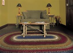 Homespice Decor Log Cabin Step Cotton Braided Rug - Oval or  Rectangle