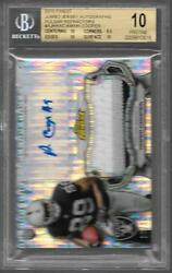 2015 Topps Finest Pulsar Refractor Amari Cooper 3clr patch Auto Rc # to 35 BGS10 $799.95