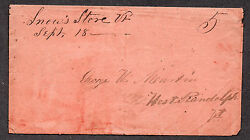 **US Stampless Cover Snow#x27;s Store VT M S Cancel 9 18 DPO Contents $79.99