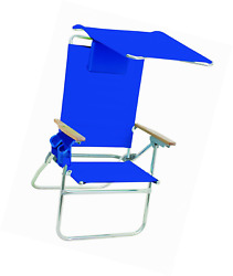 Rio Brands Hi-Boy Beach Chair with Canopy and Pillow Padded carry straps