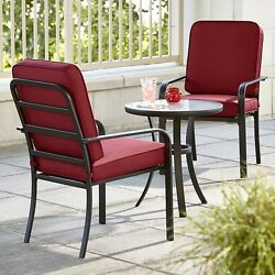 Outdoor Bistro Sets 3 pc Patio Furniture Set Dining Chairs Table Garden Armchair