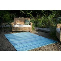 Area Rug Outdoor Indoor Rugs Large Modern Colorful Contemporary Turquoise 5'x8'